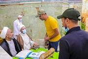 برپایی ایستگاه پاسخگویی به سؤالات شرعی در حرم حضرت امیرالمومنین(ع)+ تصاویر