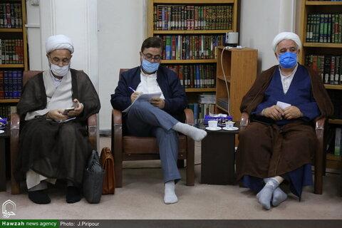 بالصور/ مدير الحوزات العلمية في محافظة مازندران يلتقي بآية الله الأعرافي