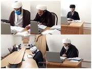 شرکت اساتید حوزه علمیه ایلام در آزمون علمی آنلاین