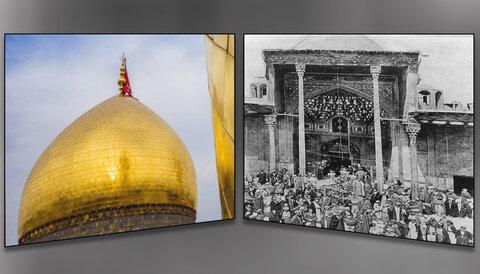 ما بين قبة مرقد الإمام الحسين (ع) وقبة مسجد الصخرة في القدس