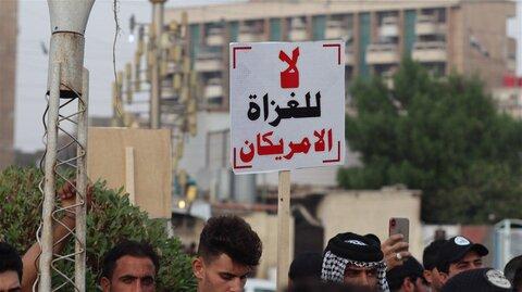 تظاهرات عراقی ها برای خروج آمریکا