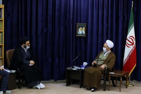تصاویر/ دیدار اعضای پژوهشگاه تخصصی شهید صدر با آیت الله اعرافی
