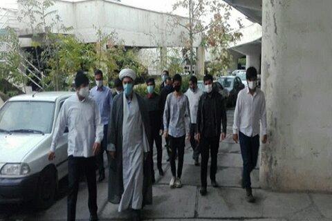 کار جهادی طلاب و اساتید کرمانشاهی در بیمارستان