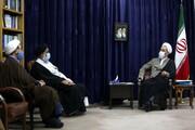 تصاویر/ دیدار نماینده ولی فقیه در خوزستان با آیت الله اعرافی