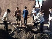 «مشق احسان و سازندگی» در اردوی جهادی طلاب مدرسه علمیه حاج شیخ کاشمر