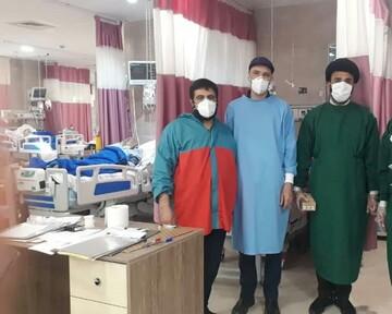 پای کار خدمت رسانی به مردم در میدان خطر / انجام کارهای شخصی بیماران کرونایی