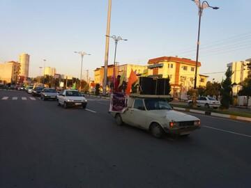 برپایی کاروان شادی در شهر سرخ رود به مناسبت ورود حضرت معصومه(س) به قم