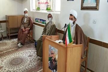 تصاویر/ جلسه هم اندیشی طلاب و روحانیون شهرستان صحنه