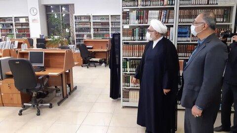 بالصور/ رئيس مركز البحوث في مجلس الشورى الإسلامي في إيران يتفقد مركز دراسات العلوم والثقافة الإسلامية بقم المقدسة