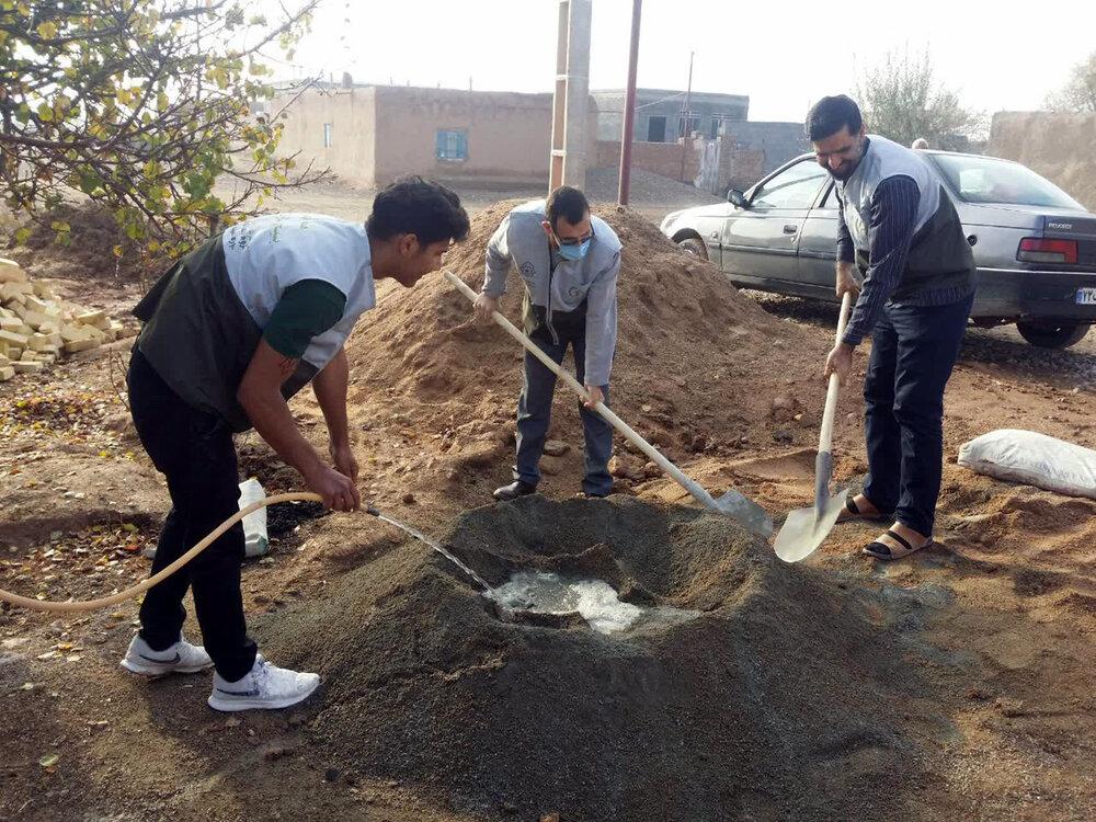 تصاویر/ ساخت دومین منزل مسکونی برای نیازمندان توسط طلاب جهادی اسفراین