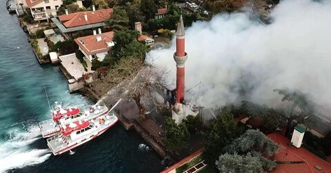 Historic Vaniköy Mosque to be restored after fire damage