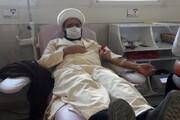 طلاب مدرسه علمیه مشکات کرمانشاه خون اهدا کردند