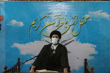 محفل انس با قرآن در مدرسه صالحیه قزوین برگزار شد+ عکس