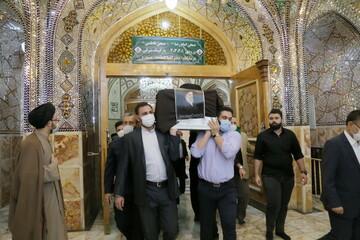 بالصور/ تشييع جثمان آية الله السيد عباس المدرسي اليزدي بقم المقدسة