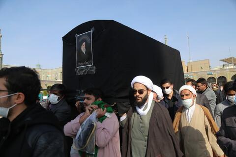 تشییع پیکر مرحوم آیت الله سید عباس مدرسی یزدی