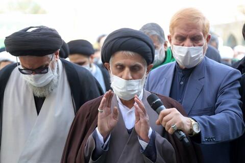 تشييع جثمان آية الله السيد عباس المدرسي اليزدي بقم المقدسة