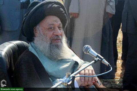 بازدید آیت الله موسوی جزایری از کارخانه کشت و صنعت امام خمینی(ره)