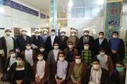 تصاویر/ حضور مدیر حوزه علمیه کرمانشاه در مدرسه علمیه کنگاور