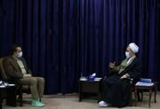 تصاویر/ دیدار رئیس دانشگاه علوم پزشکی قم با آیت الله اعرافی