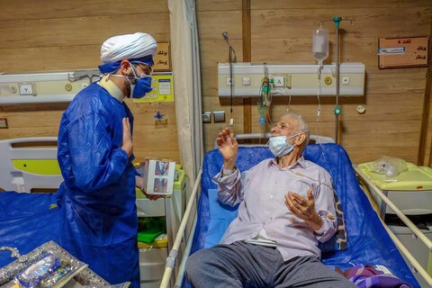 تصاویر/ وقتی بیمارستان های یزد حال و هوای کربلا گرفت