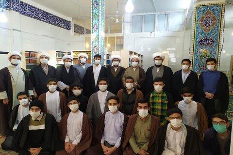سفر یک روزه مدیر حوزه علمیه کرمانشاه به مدرسه علمیه کنگاور از نگاه دوربین