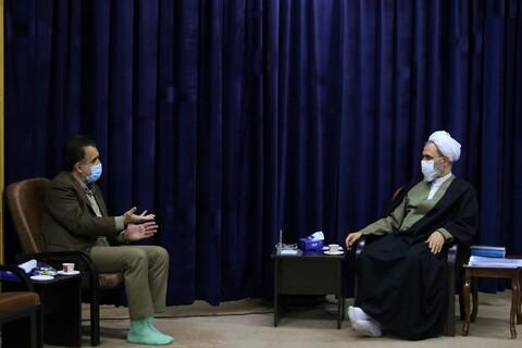 دیدار رئیس دانشگاه علوم پزشکی قم با آیت الله اعرافی