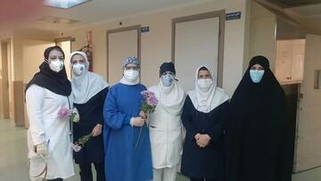 حضور طلاب مدرسه علمیه کوثر قزوین در کنار کادر درمان و پزشکی