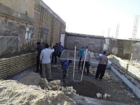 ساخت منزل برای خانواده نیازمند در دزفول