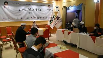 خداقوت مدیر حوزه علمیه تهران به طلاب جهادی بیمارستان ها + عکس