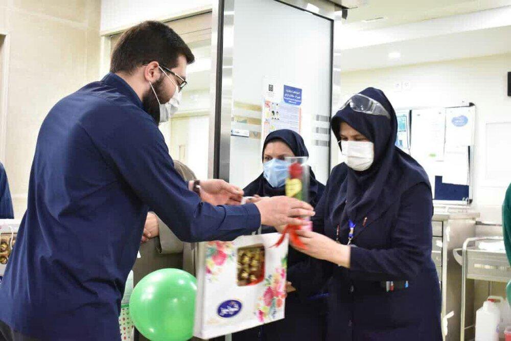 جهادگران سلامت از کادر درمان بیمارستان امیراعلم قدردانی کردند + عکس