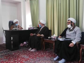 دیدار مدیران حوزههای علمیه خواهران با آیتالله مقتدایی