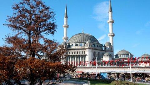 مراحل پایانی ساخت مسجد تقسیم در ترکیه