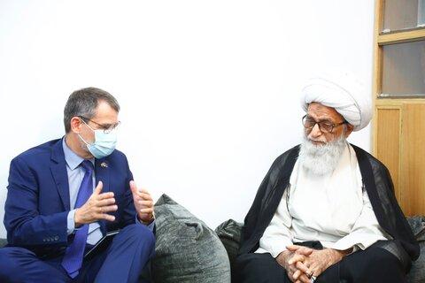 آية الله النجفي لدى استقباله سفير الاتحاد الأوربي