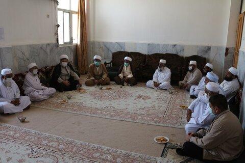 حجت الاسلام والمسلمین سعید روستا آزاد در نشستی با برخی از اساتید و علمای اهل سنت چابهار