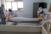 تصاویر/ تجهیز اموات کرونایی توسط روحانیون جهادی سنقر و کلیایی