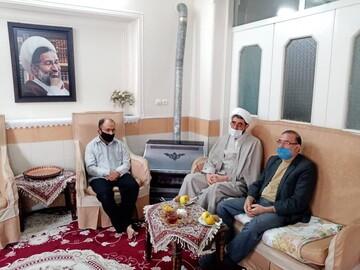 حضور نمایندگان آیت الله اعرافی در منزل مرحوم استاد حسن عرفان