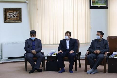 تصاویر/ دیدار مدیر کل ورزش و جوانان استان قم با آیت الله اعرافی