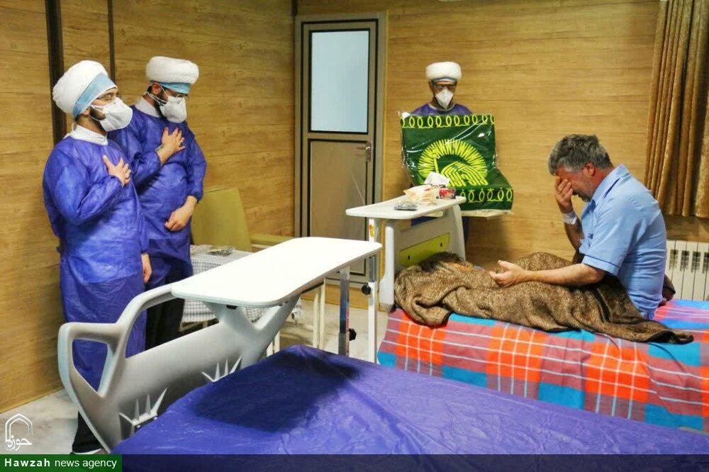 تصاویر/ حال و هوای معنوی بیمارستانهای کرونایی یزد