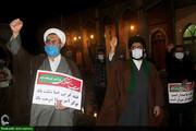 تجمع انقلابیون اهواز در محکومیت عاملان ترور شهید فخری زاده+عکس