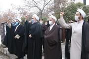 عکس/ تجمع امت انقلابی تبریز در اعتراض به ترور شهید محسن فخری زاده