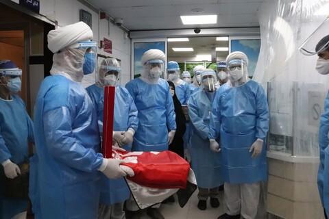 تصاویر/ حضور گروه جهادی طلاب مدرسه علمیه امام خامنه ای ارومیه در بیمارستان شهید عارفیان