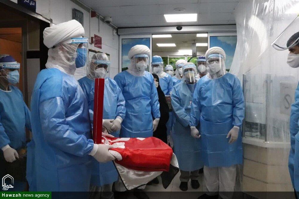 تصاویر/ حضور طلاب جهادی ارومیه در بیمارستان شهید عارفیان