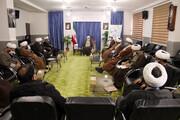 تصاویر/ دیدار مدیران حوزه علمیه خراسان شمالی با نماینده ولی فقیه در استان