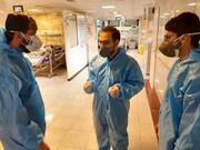 تصاویر/ استقرار طلاب یاور سلامت در بیمارستان بیماران کرونایی شهر ایلام