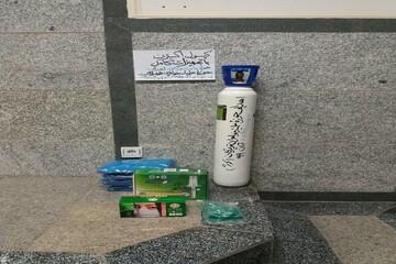 اهدای کپسول اکسیژن به بیمارستان توسط خواهران طلبه تویسرکانی