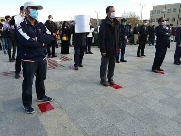 تصاویر/ تجمع اعتراضی دانشجویان همدان در پی ترور دانشمند هستهای