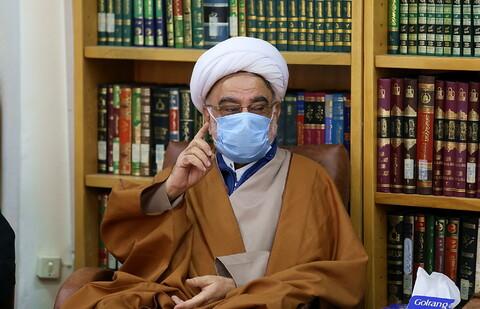 تتصاویر/ دیدار اعضای ستاد اعتکاف کشور با آیت الله اعرافی
