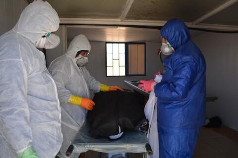 خدمترسانی طلاب جهادی شهرستان بروجن به بیمارن کرونایی