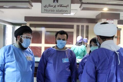 تصاویر/ خدا قوت نماینده ولی فقیه در استان همدان به کادر درمان و نیروهای جهادی