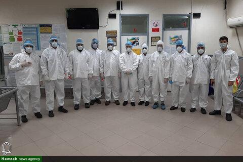 طلاب گروه جهادی مدرسه علمیه امام خامنهای اهواز